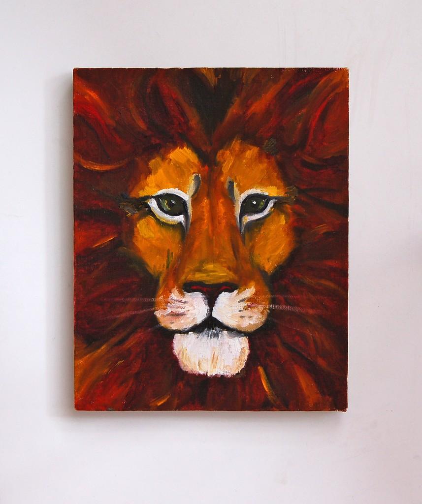 лев рисунок от руки маслом портфолио дизайнер художник